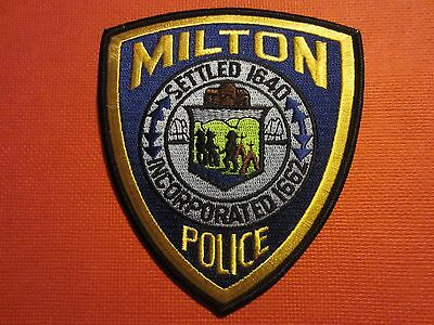 Collectible Massachusetts Police Patch Milton New