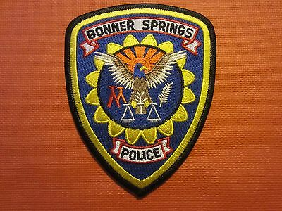 Collectible Kansas Police Patch Bonner Springs New