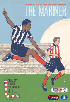 Grimsby Town Football Club - 17/18 Lincoln City Programme - 30/09/17