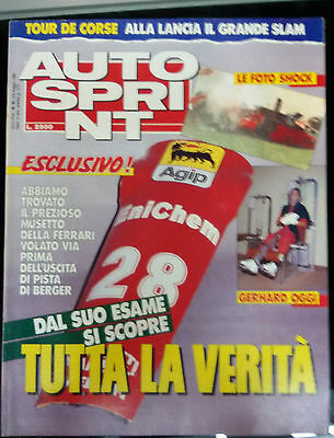 AUTOSPRINT 1989 n. 18  Tour de corse  Foto incidente Berger  Rallye game 89