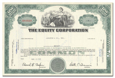 The Equity Corporation Stock Certificate