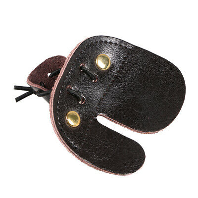Archery Finger Tab Finger Glove Guard Protective Gear Leather Fingertabs