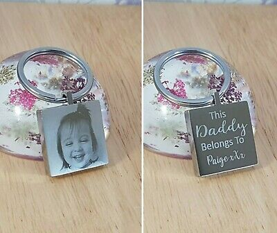 Birthday gift Personalised Gift This Mummy/Daddy is Loved By, Engraved Keyring