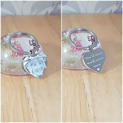 In Loving Memory gift Personalised engraved heart keyring, Memorial,Remembrance