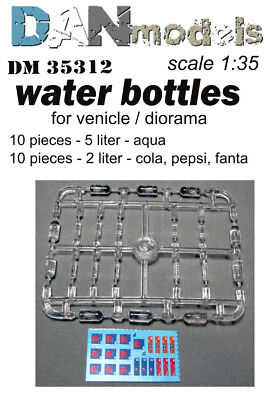 Water bottles for venicle diorama   1/35 DAN # 35312 NEW!!!