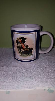 "Vintage Norman Rockwell CollectionMug 07/19/1930 ""Gone Fishing"";CurtisPublishing"