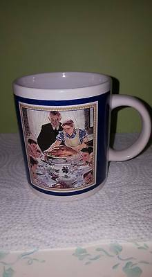 "VTG Norman Rockwell CollectionMug 3/06/1943 ""Freedom from Want"";CurtisPublishing"