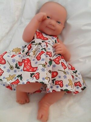 """14"""" Christmas  Dolls Clothes Handmade To Fit First Annabell Berenguer 34-38Cm"""