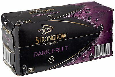 Strongbow Dark Fruit Cider Cans 10 x 440ml FAST SHIPPING NEW