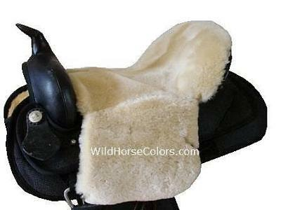 Western Saddle Seat Saver Cushion Merino Sheepskin NAVY BLACK GREY BURGUNDY WHIT