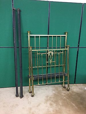 Antique Victorian Brass 3' Single Bed