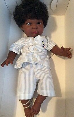 "Vtg NEW Berjusa Creacion Anatomically Correct Baby Boy Doll 13"" Shorty Pajamas"