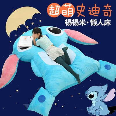 HUGE GIANT Lilo and stitch BED CARPET TATAMI MATTRESS SOFA FILLED GREAT GIFT