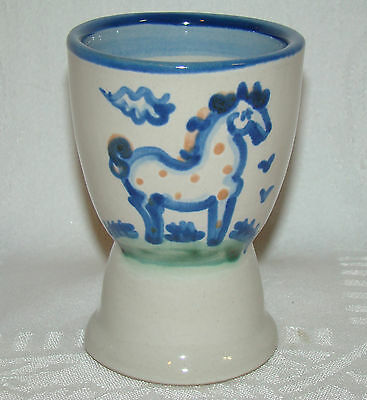 M A Hadley Horse Motif The End Double Egg Cup