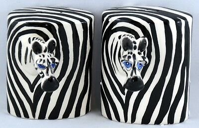 NIB Ceramic Zebra Salt & Pepper Shaker