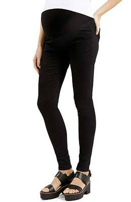 NWT $70 TOPSHOP 'Joni' High Waisted Skinny Maternity Jeans, Black; US 4/ UK 8