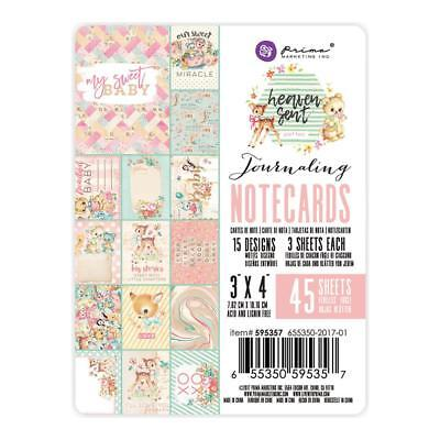 "Prima Marketing Heaven Sent Double-Sided Journaling Cards 3X4"" 45 Notizkarten"