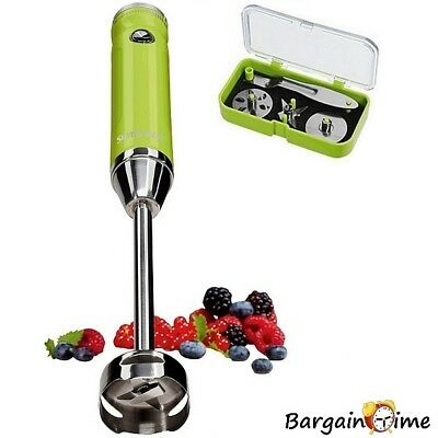 SILVERCREST 4-in-1 Hand Blender with Powerful 400W Variable Speed Motor (Green)
