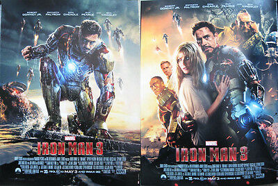 "Iron Man 3 12"" X 16"" Two-Sided Poster Tony Stark Robert Downey Jr. Actor Marvel"