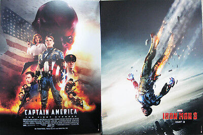 "Captain America The First Avenger Iron Man 3 12"" X 16"" Two-Sided Poster Marvel"