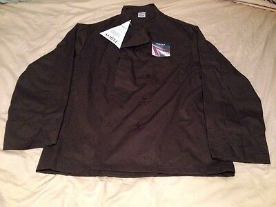Pinnacle Chef Trends New Chef Coat Brown Long Sleeve Size L NWT