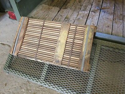 WWII Military NOS Cot mosquito net poles Double beveled 1945 dated lot of four