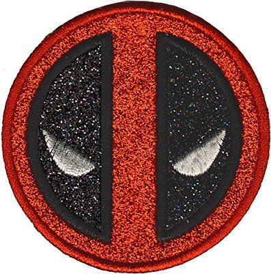 Deadpool Logo - Silver Glitter - Embroidered Patch - Brand New - 0070