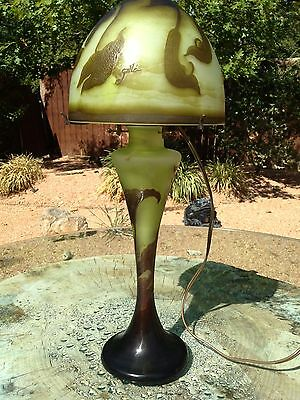 Beautiful Art Nouveau Emile Galle Cameo Lamp Ca.1900 Guaranteed Authentic