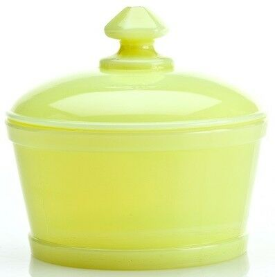 Butter Tub - Covered Butterdish - Mosser USA - Buttercream Custard Glass