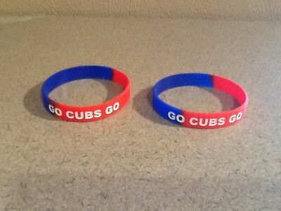 Lot of 2 NEW Chicago Cubs rubber bracelets