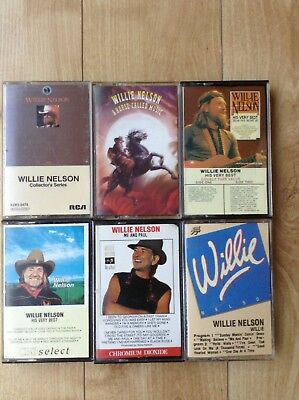 Great Willie Nelson Cassette Collection - 6 cassettes