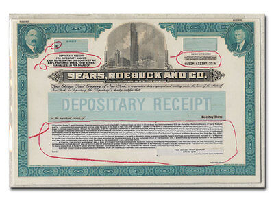 Sears, Roebuck & Co. RARE American Bank Note Production Portfolio