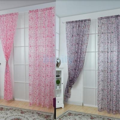 Circle Pattern Sheer Curtains Window Valances for Balcony Garden Patio Dooration