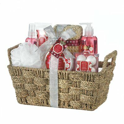 Bath & Body Gift Set in Reusable Basket 4 Different Scents Mix & Match Any 3