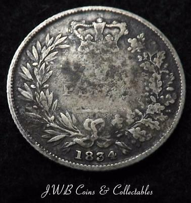 1834 William IV Silver Sixpence Coin