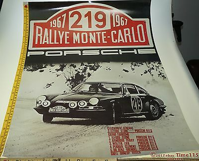 1967 PORSCHE RALLY Monte Carlo ORIGINAL FACTORY REPRODUCTION POSTER PRINT