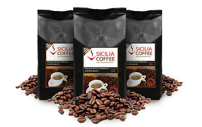 3kg DOUBLE ROAST ESPRESSO Coffee Beans, 100% Arabica, Strong Dark Roast