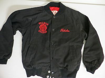 """Rare Youth Jacket for 1980's TV Show """"A Different World"""" Hillman College Emblem"""