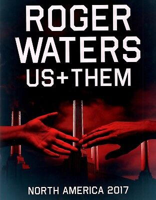 Roger Waters 2017 Us + Them U.s. Tour Program Book / Pink Floyd / Nm 2 Nmt