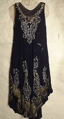 Gypsy/BOHO/Wicca Gauze dress size S  (green/black)