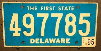 1995 - Delaware - 497785 - License Plate - The First State