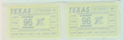 Lot Of 2 - State Of Texas - Stickers / Decals - Unused - Mint