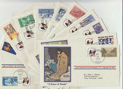Qty 11 - 79/80 Norman Rockwell - First Day Covers - Mixed Lot - No Dupes