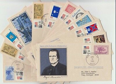 Qty 12 - 84/85 Us Cover Signers Declaration Of Independence -Mixed Lot- No Dupes