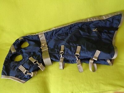 BMB Size 64-68 Small Winter Horse Hood~Navy Blue~Excellent Quality & Condition