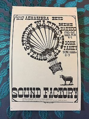 Muddy Waters~10 Years After~3/14,15,16/1969 Sound Factory Handbill