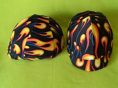 Lot of (2) FANCY Equestrian Horse Riding Helmet Covers~Nylon/Lycra~Top QUALITY