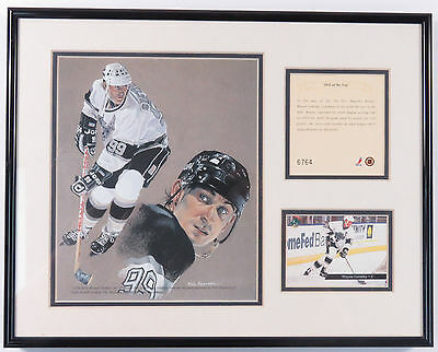 Vintage 90S Wayne Gretzky Los Angeles Kings Kelly Russell Studios Litho Framed