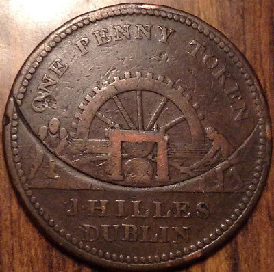 1813 Bank Of Ireland One Penny Token In Good Condition !
