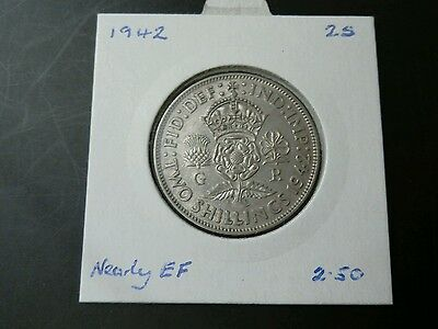 1942 King George VI silver florin nEF